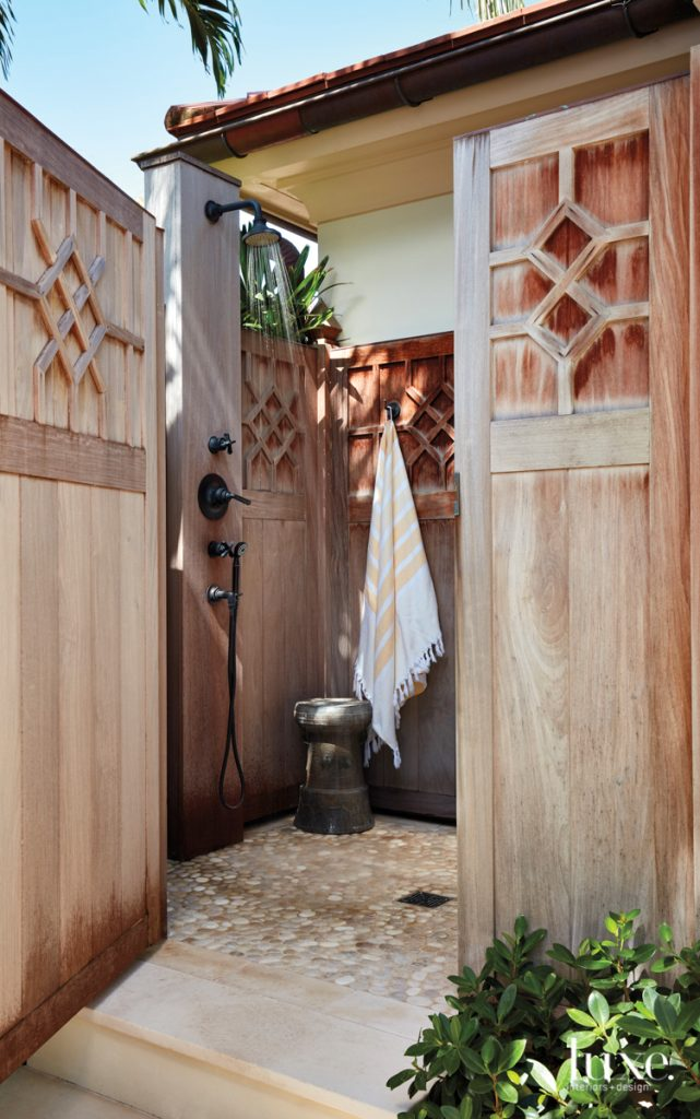 An outdoor shower is a...