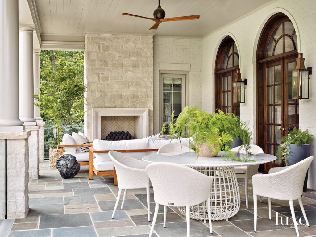 The loggia was designed to...