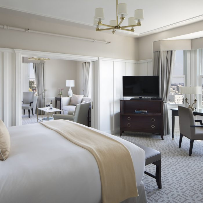 Guests can select from a menu of different pillow options to ensure a night of comfort.