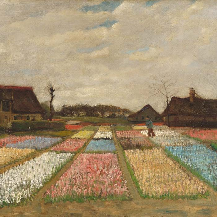 Vincent van Gogh, 1853-1890 Flower Beds in Holland, c. 1883 Oil on canvas on wood 19.25 x 26 in. National Gallery of Art, Washington, Collection of Mr. and Mrs. Paul Mellon, 1983.1.21