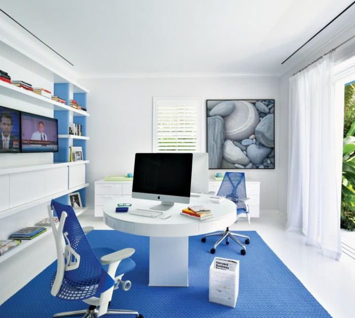 colorful home offices