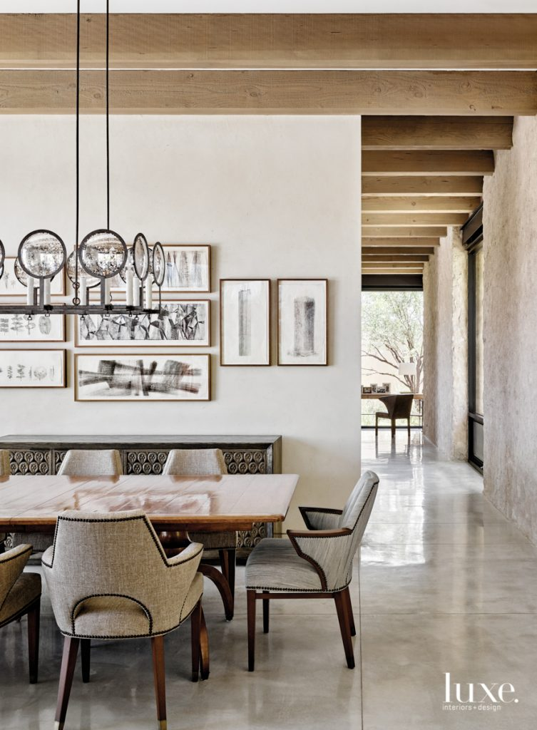 Gregorius Pineo armchairs surround a...