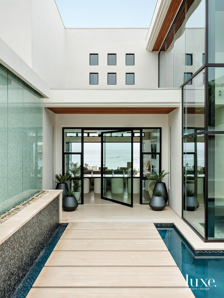 southern california home exterior glass...