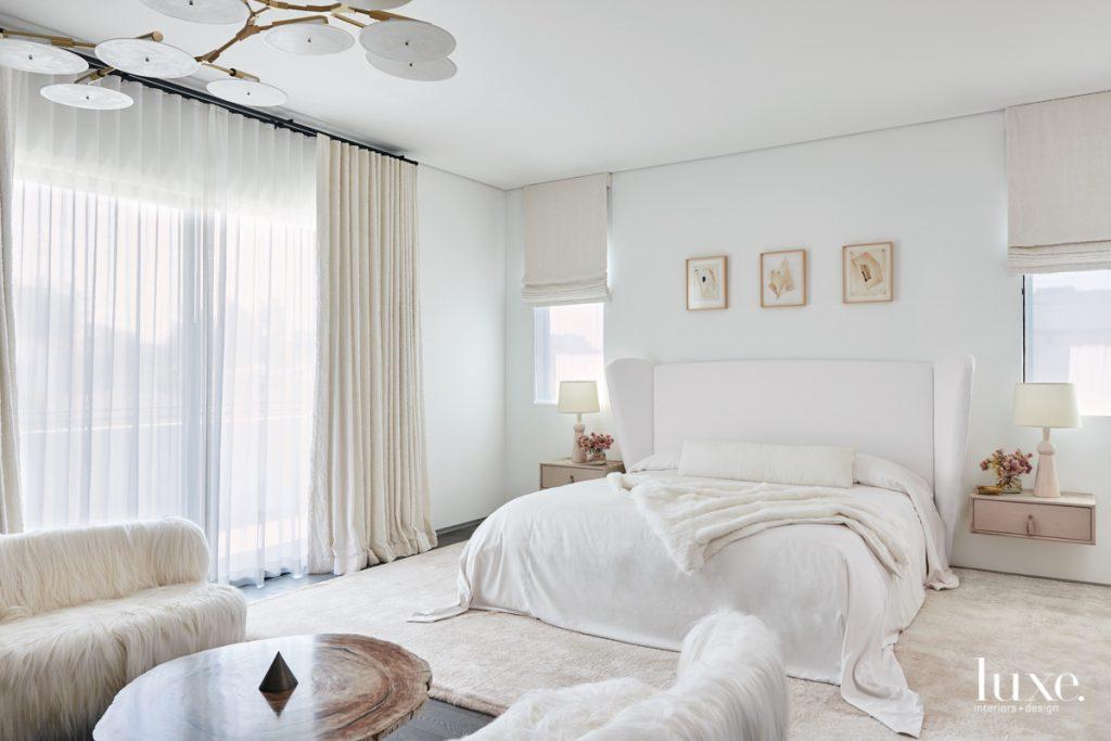 The master bedroom's custom bed...