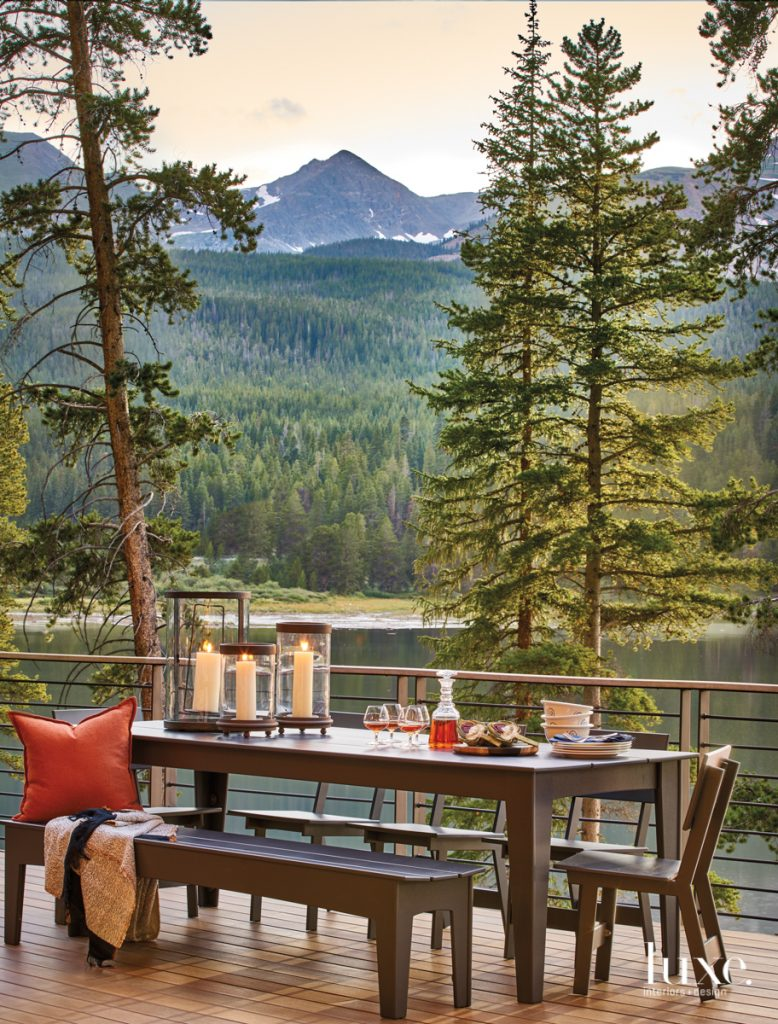 Kick Back And Relax At This Lakeside Retreat Amid The Rockies