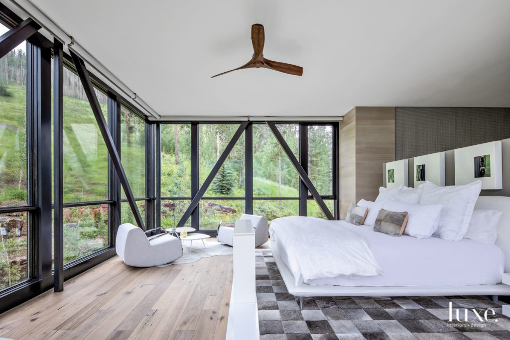 In the master suite, a...