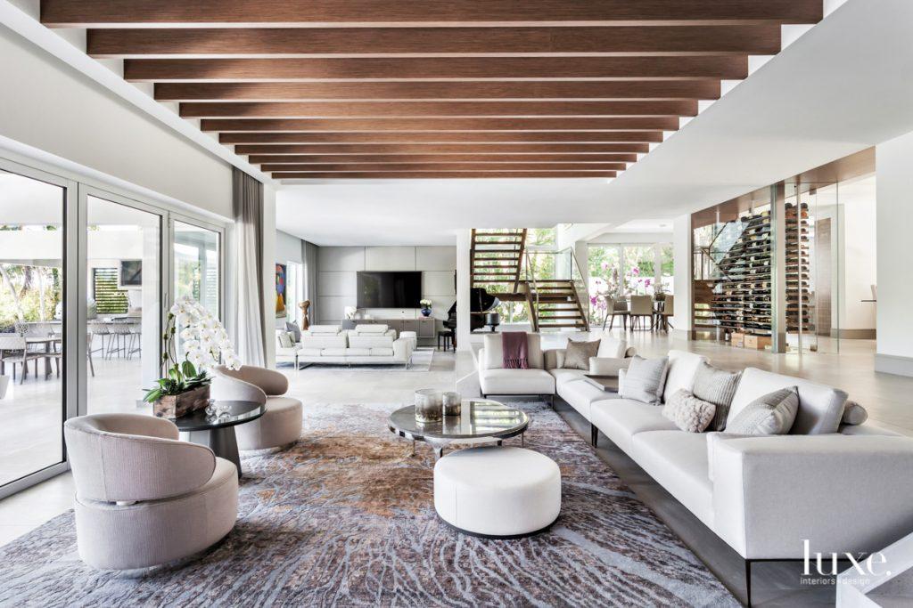 Walnut ceiling beams by C.G....