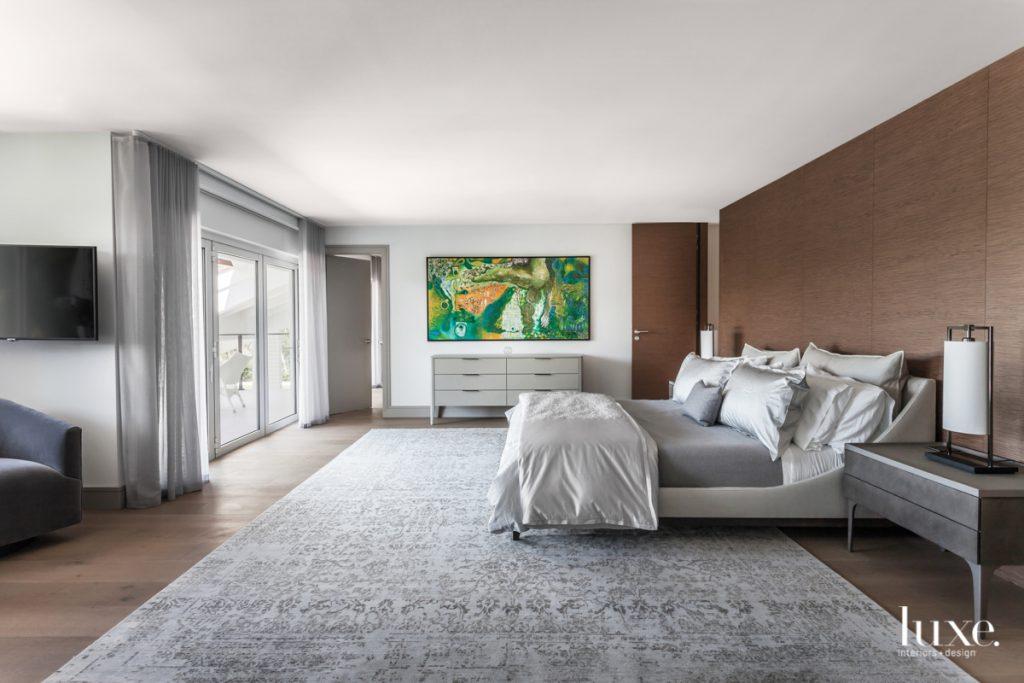 In the master bedroom, Artefacto's...
