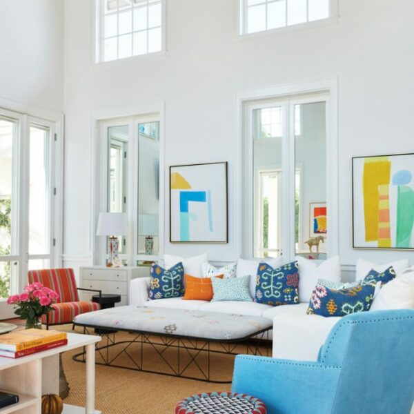 Pops Of Colors Make An Artistic Statement In A Breezy Florida Home