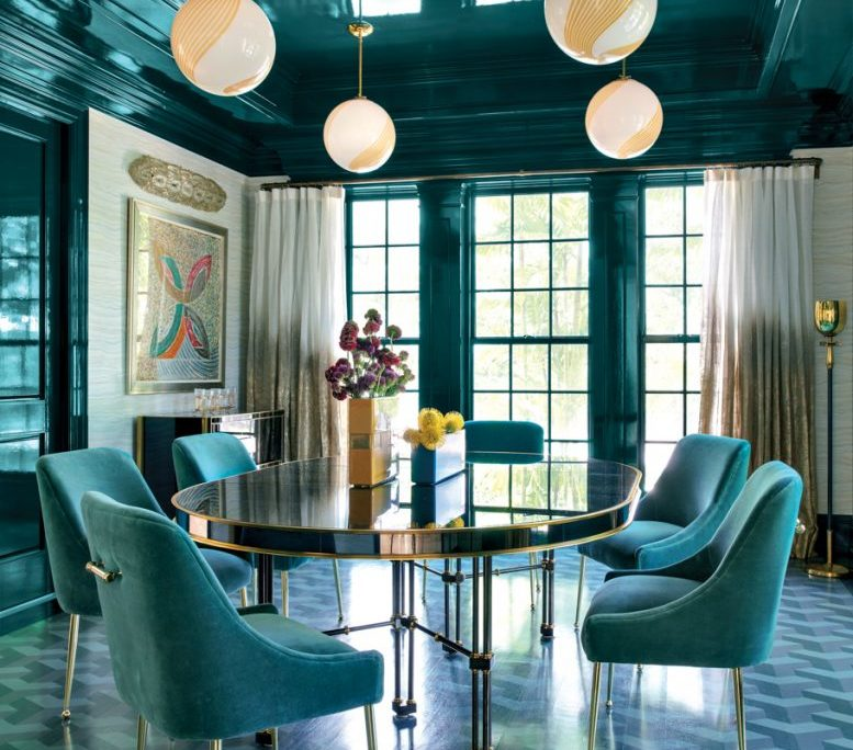 A Jewel-Box Dining Room Is Just One Of The Insta-Perfect Spaces In A Bold Palm Beach Home