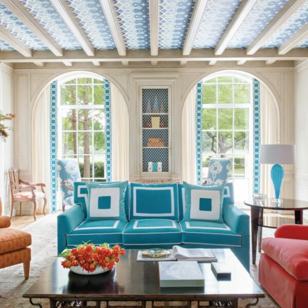 Splashes Of Color And Pattern Update A Dallas Abode