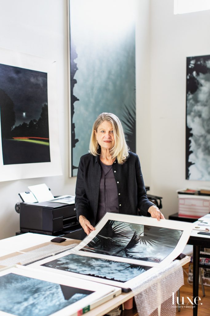 Artist Ann Stautberg poses in her Houston studio.