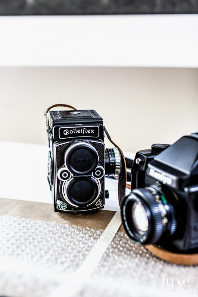 Stautberg uses Rolleiflex and Mamiya 645 cameras for black-and-white photos.