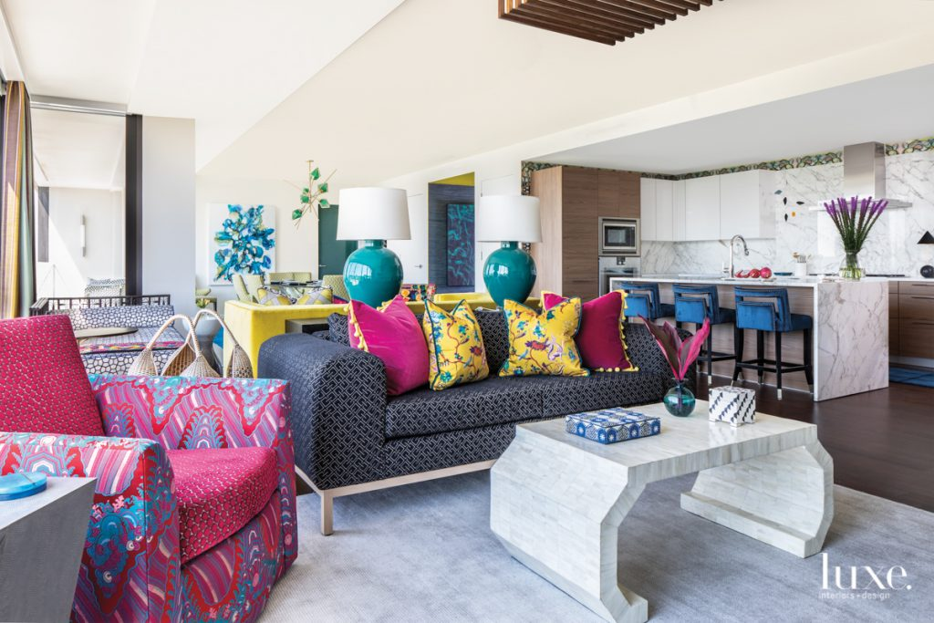 It's All About Color In This Perfectly Orchestrated Houston High-Rise