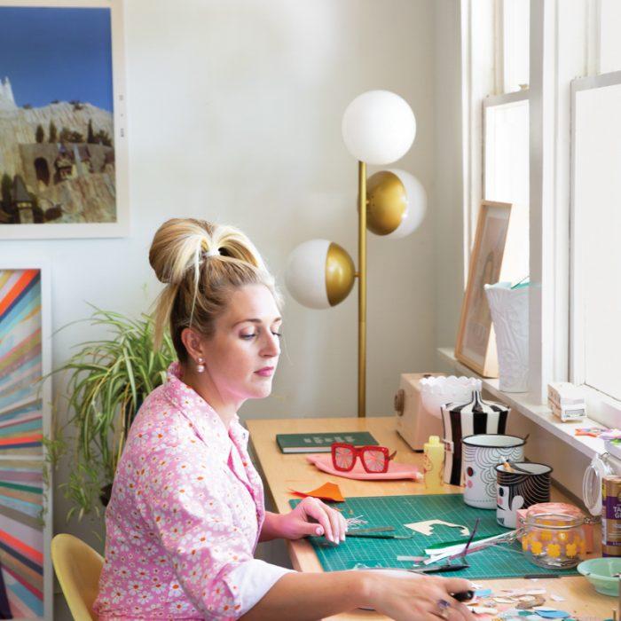 Artist Kelly O'Connor in his studio.