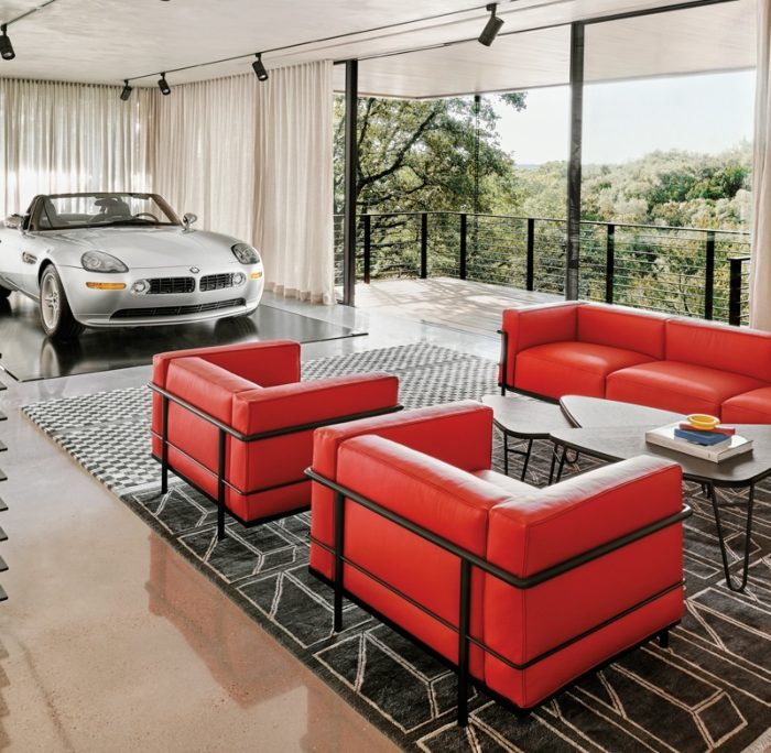 This Sleek Garage Recreates The Look Of A Classic '80s Flick