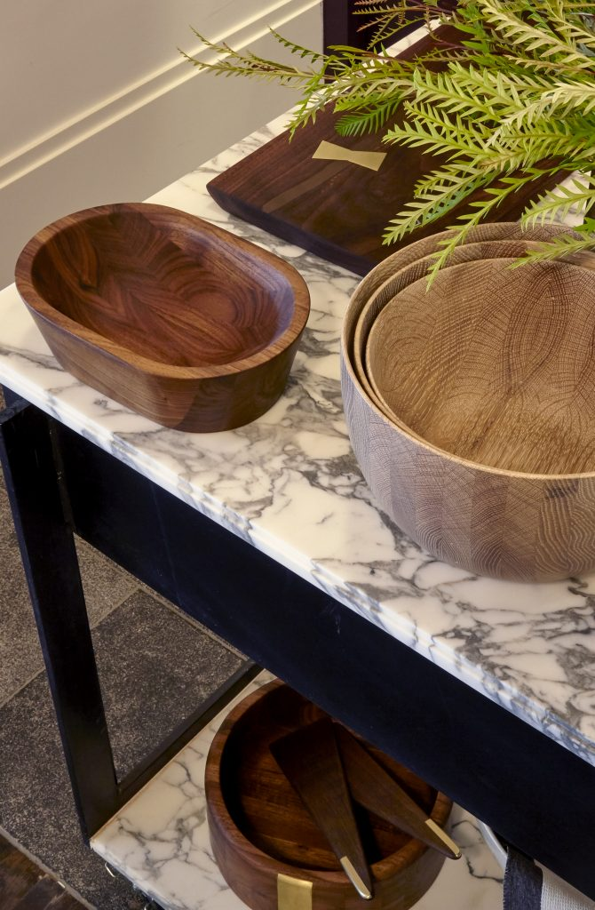 wooden bowls at chad dorsey design studio