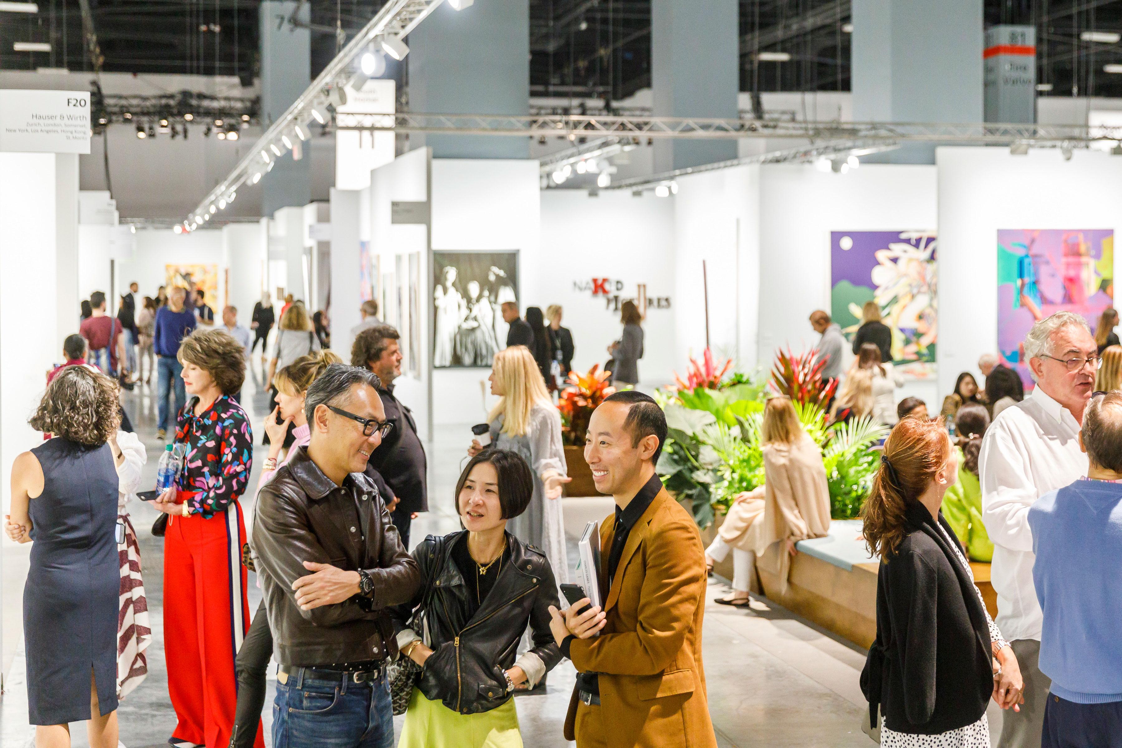 visitors at art basel 2019