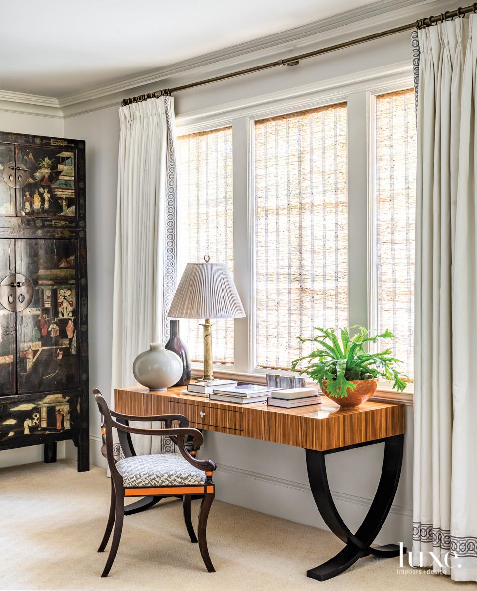master bedroom desk with regency-style...