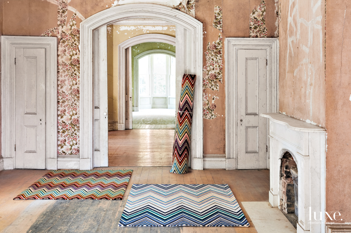 Missoni home jarris rug and zig zag rug