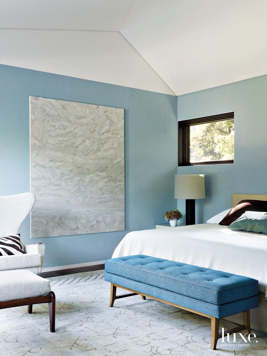 sky blue linen fabric master...