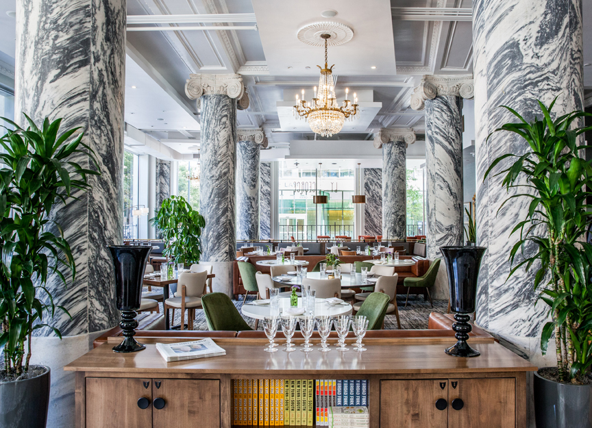 by george restaurant marble columns