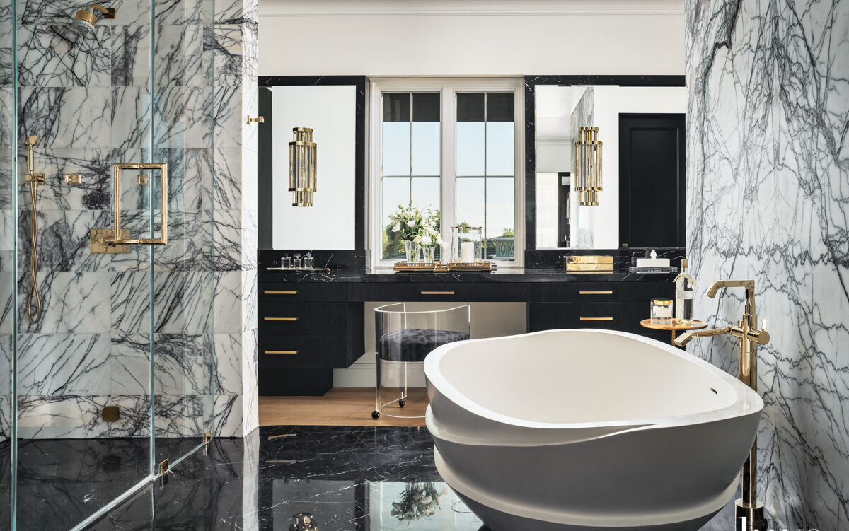 Dazzling Bathrooms With Spellbinding Veining Sure To Entrance