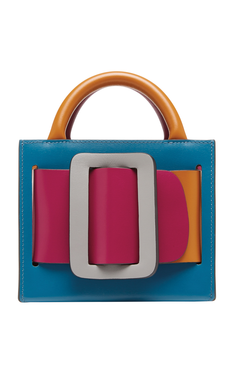 bobby 15 color-block leather shoulder bag