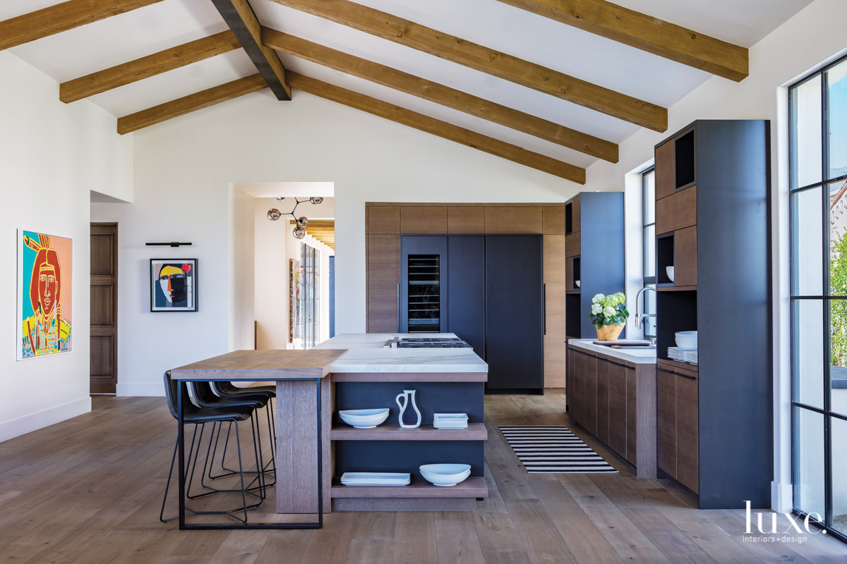 kitchen with west elm counter...