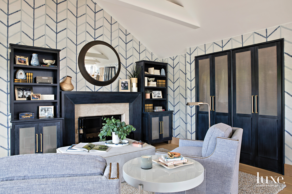 Master bedroom sitting area with...