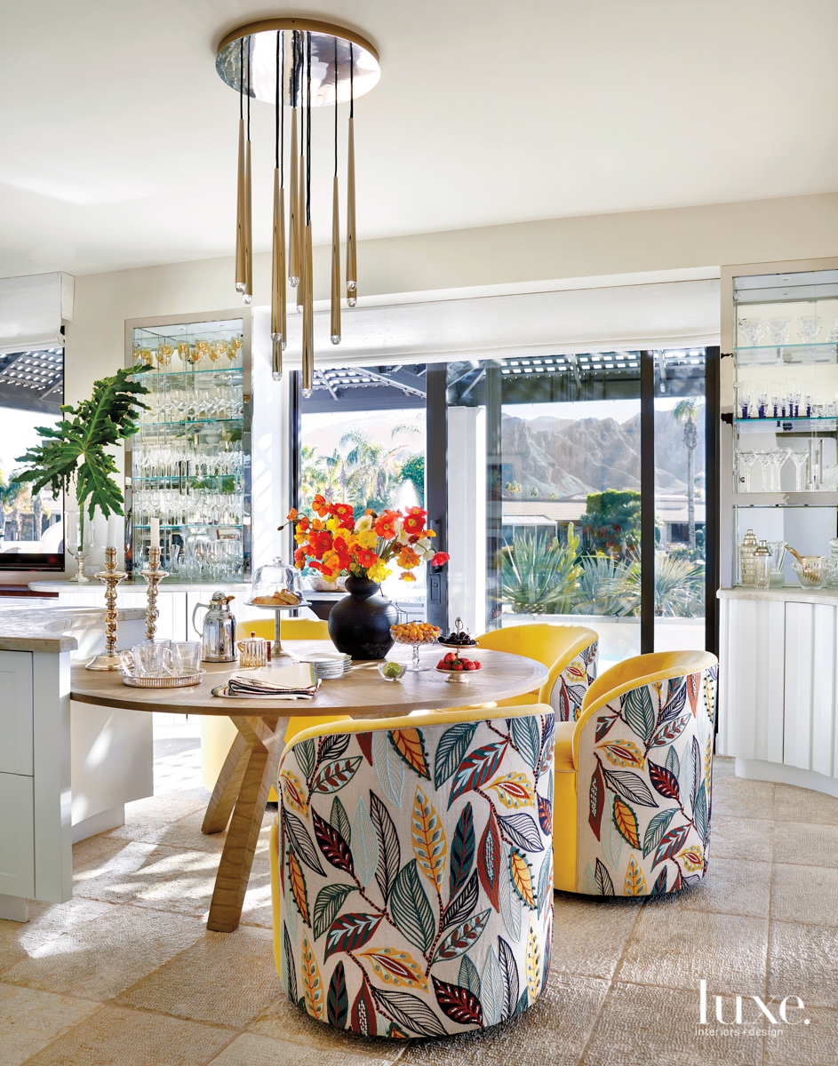 Rancho Mirage kitchen with floral...