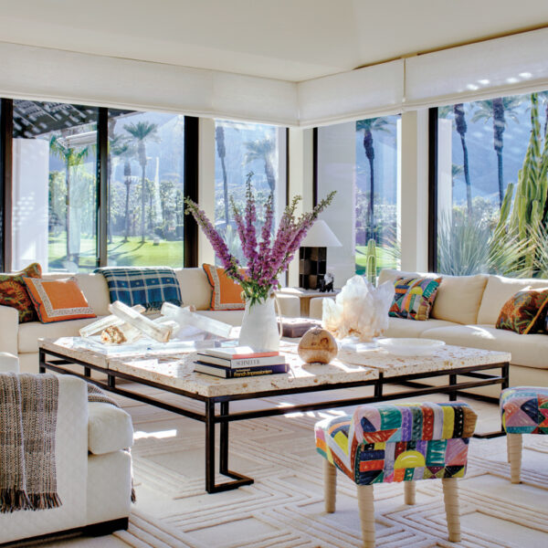 A Bright And Peppy Desert Getaway Welcomes A New Couple Who Loves Entertaining