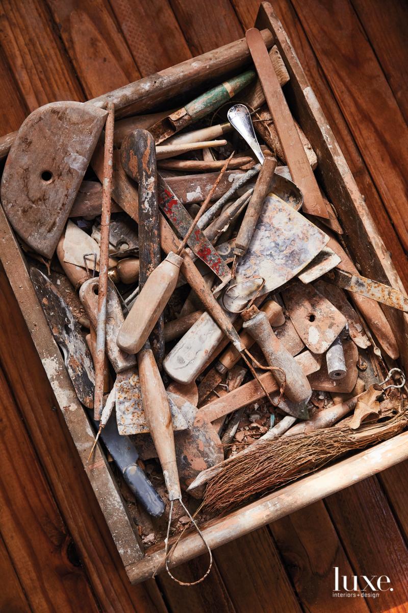 A box full of tools.