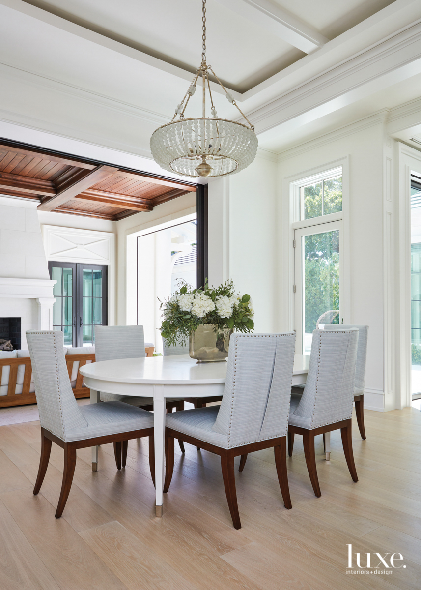 white oval dining room table...