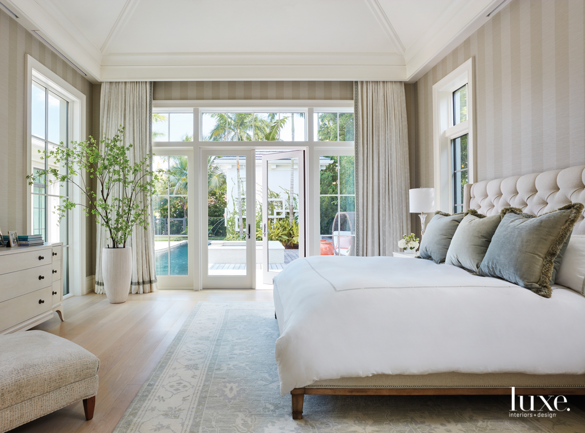 neutral master bedroom with vanguard...