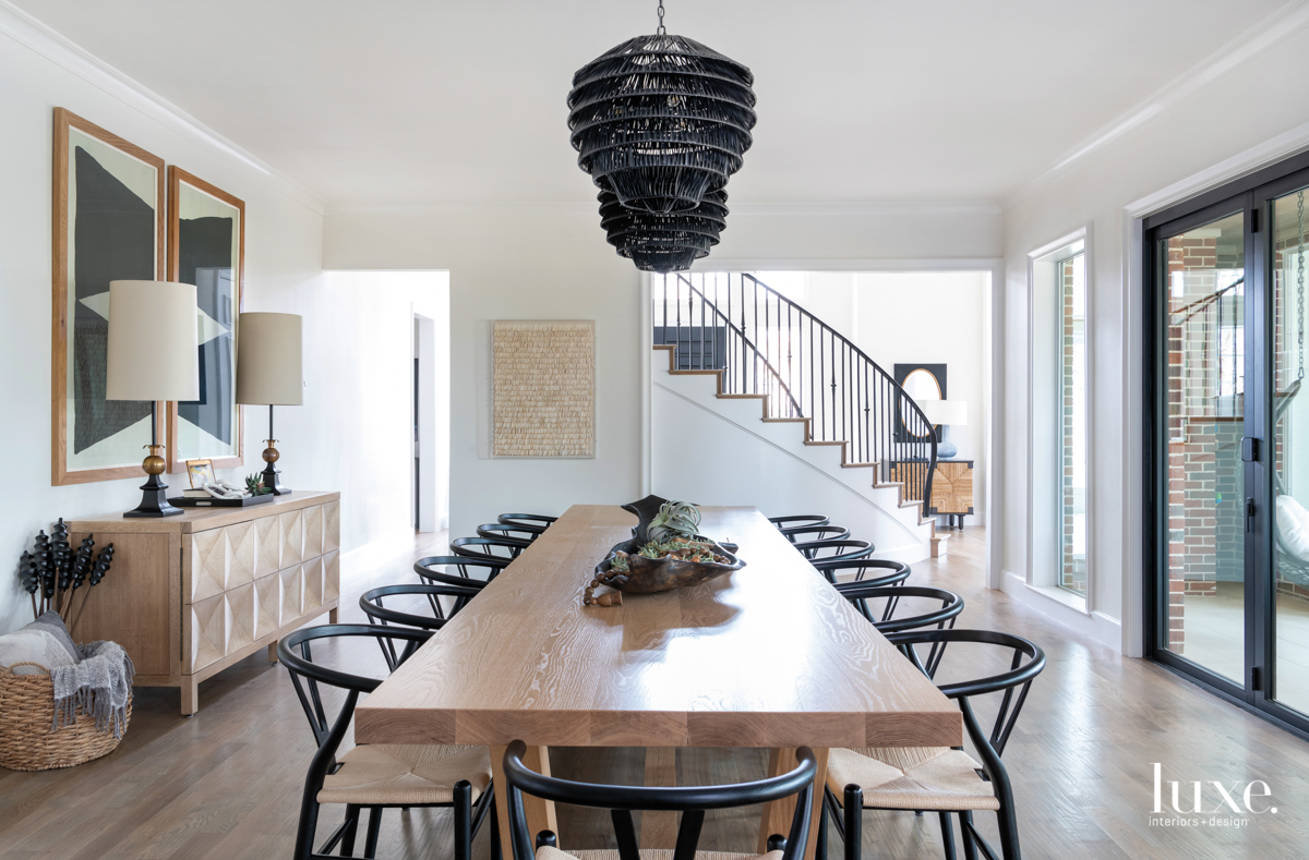 14-foot dining table with wishbone...