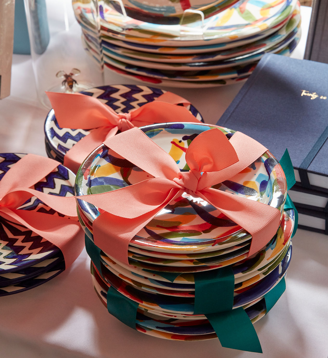 colorful plates for sale at the souk celebration