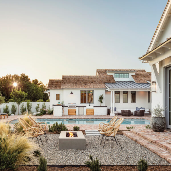 Never Underestimate The Power Of Comfort. Inside A Modern AZ Farmhouse With Beachy Accents.