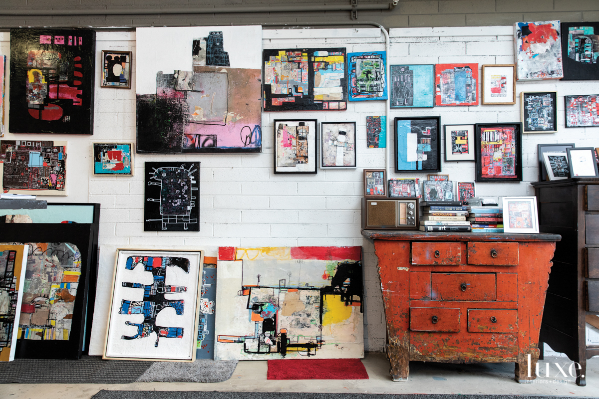 A grouping of Michael Viglietta's paintings.