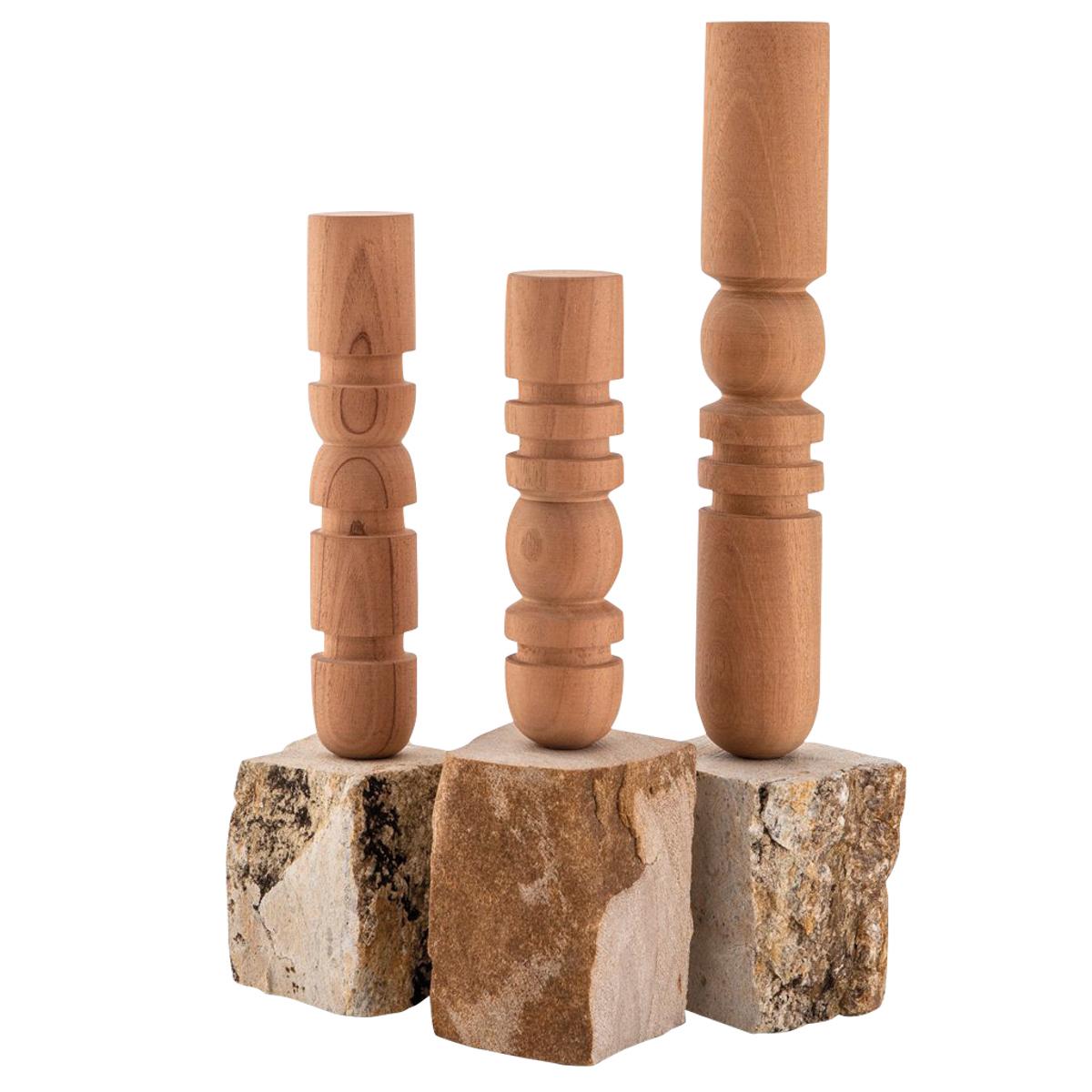 Stone Candlesticks