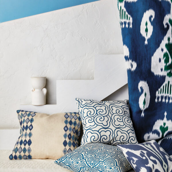 Bring The Bliss Of A Grecian Holiday Home With These Dreamy Blue And White Fabrics