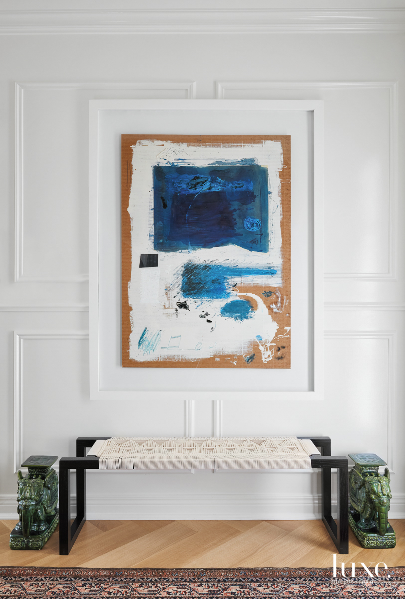 An abstract William McClure painting...