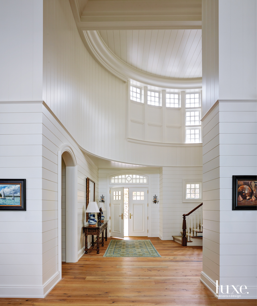 The soaring entryway of a...