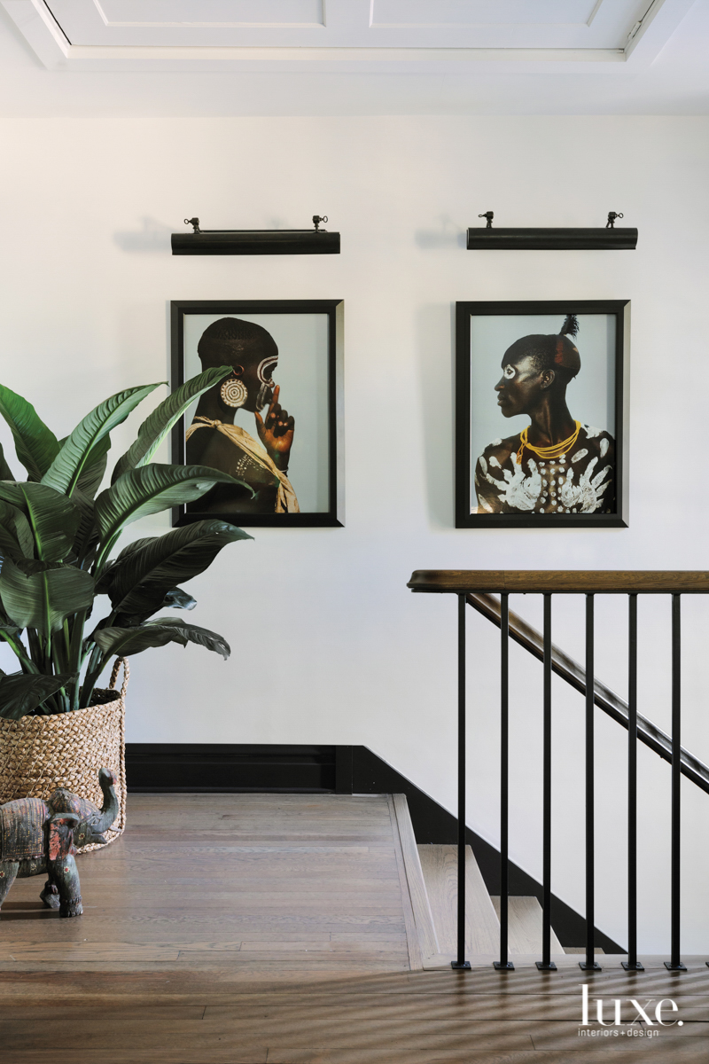 African-inspired portraits are at the...