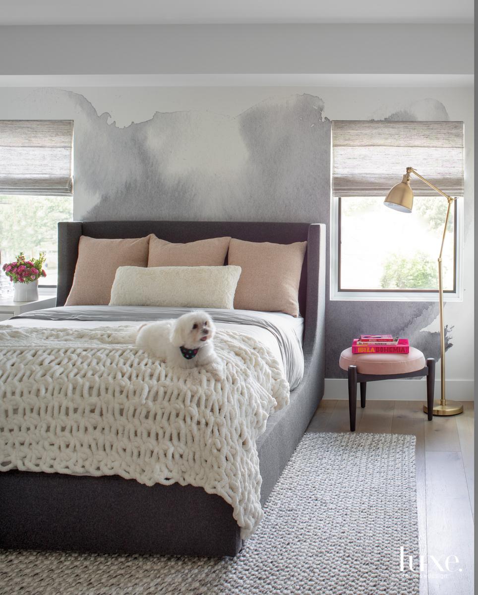 bedroom with RH Teen sleigh...