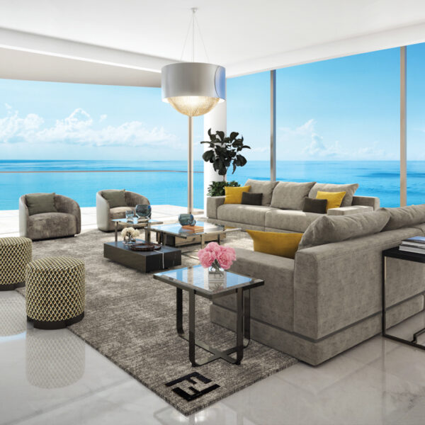 Ocean Vistas, City Skylines And One Of Karl Lagerfeld's Last Commissions Shine In These Miami Luxury Residences