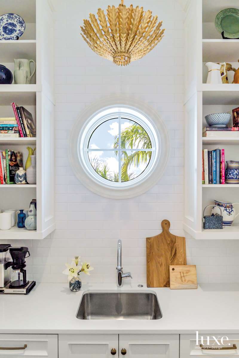 butlers pantry with porthole window,...