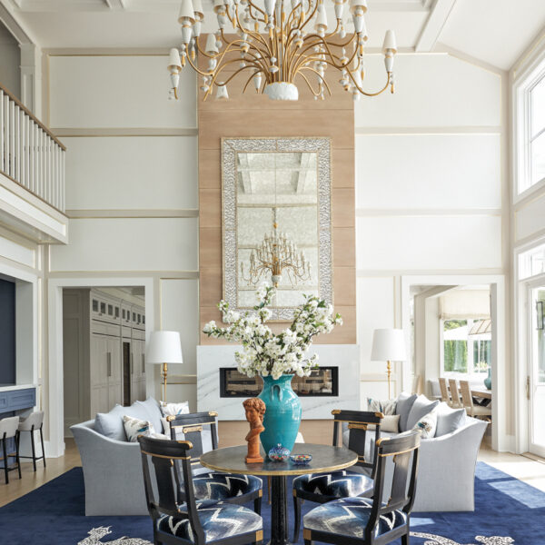 Say Farewell To What You Know About Beachside Blue And White With This Hamptons Home