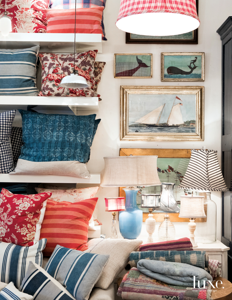 eclectic home goods at red ticking shop