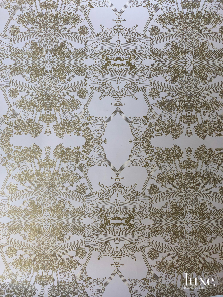 Glints Of Gold Mix With A Love Of Nature In Erica Tanov's New Wallpaper Collection